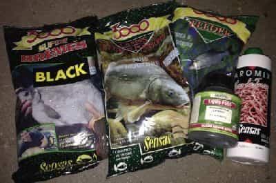 Appâts et additifs Sensas pour la pêche