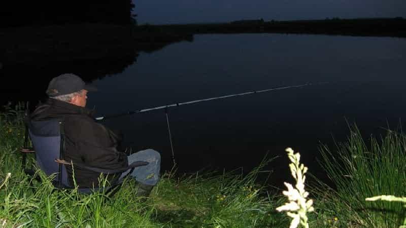 Night carp fishing