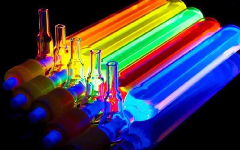 fluorescing substances