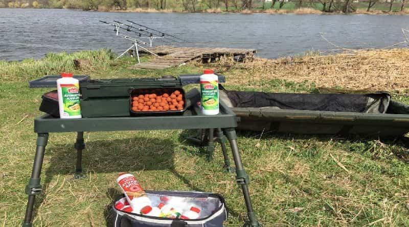 Sabores e atrativos para a pesca da carpa