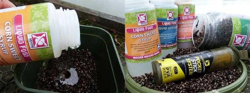 aditivos para el cebo de la zona de pesca